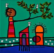 Resultado de imagen para lucila manchado pintura Arte Popular, Illustration Art, Symbols, Ideas, Gardens, Kid Art, Painted Trees, Modern Paintings, Pretty Images