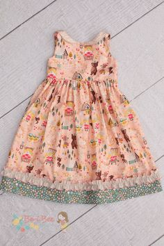 @BeriBeeDesigns created this sweet girls dress from Jill Howarth's Goldilocks collection for Riley Blake Designs.lo