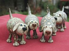 dogs If I can't get a real one?pottery dogs If I can't get a real one? Sculptures Céramiques, Dog Sculpture, Pottery Sculpture, Pottery Animals, Ceramic Animals, Clay Animals, Ceramic Clay, Ceramic Pottery, Pottery Art