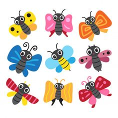 Monster Crafts, Little Critter, Pebble Painting, Clay Crafts, Vector Free, Projects To Try, Butterfly, Clip Art, Cartoon