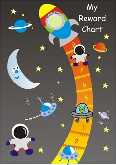 This magnetic space reward chart is reversible with 10 steps on one side 16 steps on the other Each chart comes with 3 moveable characters so your Preschool Reward Chart, Behavior Chart Toddler, Reward Chart Kids, Behaviour Chart, Reward Chart Template, Printable Reward Charts, Rewards Chart, Free Printable, Behavior Rewards