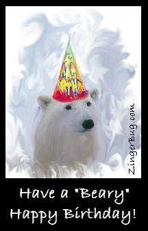Have A Beary Happy Birthday Polar Bear Glitte Birthdays Cannot