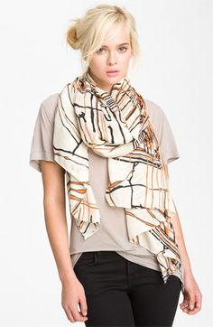 Raj Imports 'Painted Lines' Scarf   #Nordstrom #falltrends