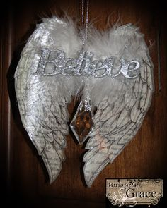 DIY Angelic Organdy Ribbon Angel Wings | Decoration crafts, Angel ...