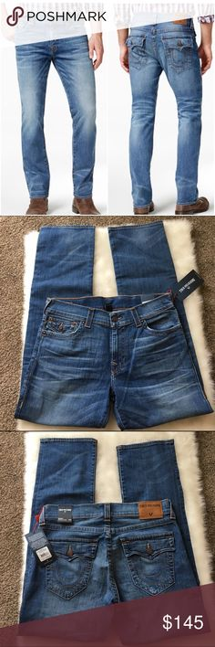 "True Religion ""Ricky"" Jeans True Religion ""Ricky"" Jeans. Relaxed straight fit. Flagstone color (medium wash). New with tags. Approx 33"" inseam. 👀 🔍 You can PINCH AND ZOOM on pics.🔍👀  Clean, Smoke Free Home.  All Sales Final.  Fast Ship! Thanks! Check out my other items!                                                ✨✨✨✨✨15% off when bundled with another listing ✨✨✨✨  **NO TRADES or HOLDS PLZ** **will not reply to ""lowest""** True Religion Jeans Straight"