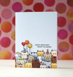 Mama Elephant-The Cat's Meow Mama Elephant Stamps, Image Chat, Elephant Design, Cat Cards, Design Blog, Animal Cards, Card Making Inspiration, Happy Birthday Cards, Homemade Cards