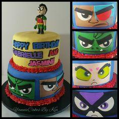 Teen Titans Go Birthday Cake yanniecakes.com