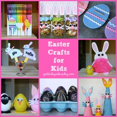 Easy and whimsical Easter Crafts for Kids #easter