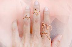 Ethnic Tribal Above Knuckle Finger Rings SET by theELEPHANTpink, $16.50