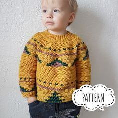 Crochet pattern SWEATER, Cable crochet Pattern in English, tutorial PDF file, Yellow jumper boy, Sof Ugly Christmas Sweater Women, Christmas Sweaters, Holiday Sweater, Christmas Outfits, Crochet Doll Pattern, Crochet Patterns, Baby Boy Sweater, Toddler Sweater, Ski Sweater