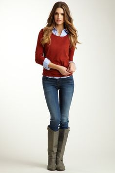 Love this look! Lily Skinny Straight Leg Jean