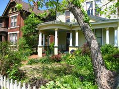 One of the many attractive old homes and gardens in Paducah's Lowertown District