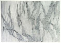 "Saatchi Online Artist John Franzen; Drawing, ""EACH LINE ONE BREATH - PAPER SERIES - N°2"" #art"