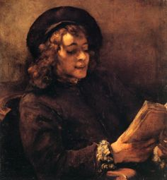 Titus Reading Aloud (Titus Lisant), c. 1656, Rembrandt van Rijn, Oil on canvas, 71 x 64 cm, Kunsthistorisches Museum, Vienna, Austria