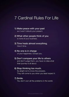 7 rules for living