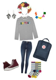 """Fun with colour!"" by pippahoel on Polyvore featuring Topshop, Être Cécile, Fjällräven, Any Old Iron, NOVICA and Converse"