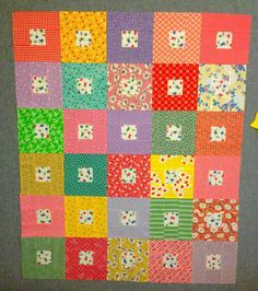 INSPIRED BY ANTIQUE QUILTS: baby quilt pattern