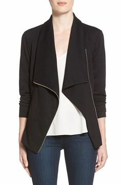 Free shipping and returns on Trouvé Drape Front Knit Jacket at Nordstrom.com. A knit jacket adds instant polish to any look with asophisticated draped collar and back vent that lends a touch of feminine flutter.