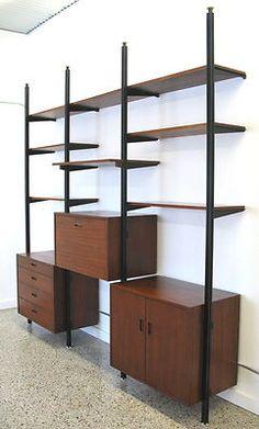 Vtg George Nelson Omni Shelving Wall Unit Midcentury Herman Miller CSS Storage   Asking $2600