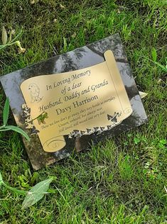 personalised Granite Grave Stone Memorial Headstone Cemetery Grave Marker £58.00 Grave Plaques, Grave Markers, Black Granite, Sit Up, In Loving Memory, Us Images, State Art, Cemetery, Colours