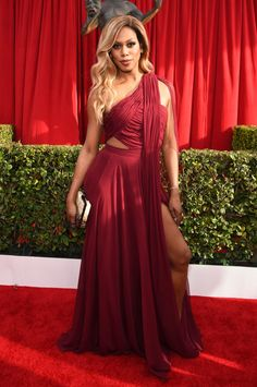Laverne Cox in Atelier Prabal Gurung (2016) | 30 Of The Most Stunning SAG Award Looks Of All Time