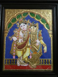 Mysore Painting, Tanjore Painting, Krishna Painting, Krishna Art, Hare Krishna, Hampi, Goldwork, Krishna Wallpaper, God Pictures