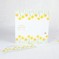 Daffodil wedding stationery available at cherrygorgeous.co.uk