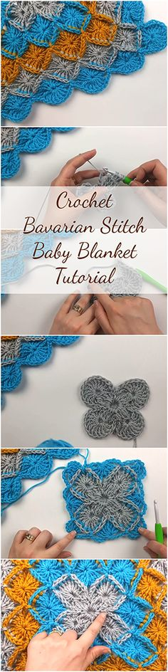 Amazing step by step video tutorial for those who want to learn how to crochet the Bavarian stitch and crochet a DIY baby blanket during the process! | Free Crochet Tutorials For Beginners | Crochet Stitches For Beginners | Free Crochet Videos | Free Crochet Patterns | Beginner | Crochet Blankets For Beginners | Crochet Baby Blanket | Crochet For Beginners | Patterns | Crochet Stitches | DIY Crochet | #crochetlove #crocheting #crocheted #crochetblanket #crochetpattern #crochet