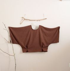 over size soft autumn brown wool kimono by linenclothingbyanny