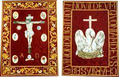GUIÓN DE LA REDENCIÓN. Hermandad. del Calvario de Sevilla. Óleo sobre lienzo. 60x40 cm. 2005