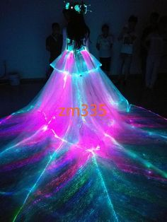 2018 Light Up Wedding Dress - Country Dresses for Weddings Check more at svesty. Pretty Quinceanera Dresses, Pretty Prom Dresses, Sweet 16 Dresses, Cute Dresses, Beautiful Dresses, Light Up Dresses, Neon Dresses, Ball Dresses, Ball Gowns