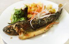 Denné menu Vranov | Pstruh na mlynárkin spôsob, opekané zemiaky - reštaurácia Hotel Patriot*** #hotel #restaurant