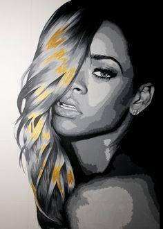 Original Rihanna Acrylic Painting