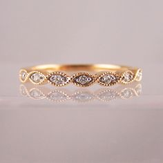 milgrain twist ring in rose gold & diamond - Ring Jewellery Jewelry Shop, Jewelry Rings, Jewellery, Rose Gold Diamond Ring, Diamond Jewelry, Commitment Rings, Eternity Rings, Twist Ring, Wedding Rings For Women