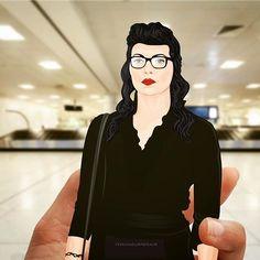 Bonjour Bruxelles. Mince, alors... Où est Piper avec les bagages? Merde! #VauseIsBoss #AlexVause #LauraPrepon #Vauseman #Bruxelles #Brussels #airport #OITNB #OrangeIsTheNewBlack #netflix #vector #fanart #artwork #illustration #paperdoll . ... Yeah, damn it. Where the hell is Piper with the suitcase?