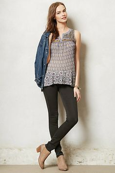 Sequined Tile Tank #anthropologie