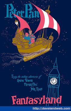 vintage Disneyland Peter Pan poster