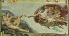 God creates Adam - Painting in Sistine Chapel