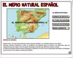 """""""El Medio Natural Español"""" (Aplicación interactiva de Ciencias Sociales de Primaria) Natural, Socialism, Science Area, Teaching Resources, Social Science, Learning, Nature, Au Natural"""