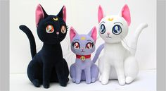 The cutest Luna, Artemis and Diana plushies! If only  they were available to order right now...