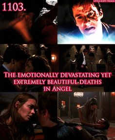 The emotionally devastating yet extremely beautiful deaths in Angel.