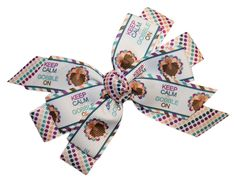 Webb Direct 2U Girls Keep Calm and Gobble On Turkey Thanksgiving Hair Bow (8015A) ** Check out this great product. (This is an Amazon affiliate link)