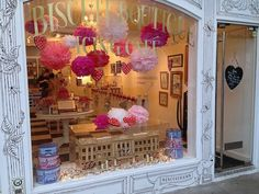 Have you ever seen a shop more beautiful and inviting than Biscuiteers in London?! #visitlondon.com