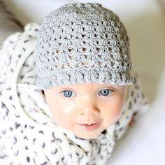 Instant download - Hat Crochet PATTERN (pdf file) - Spring Blossom Hat (0-3, 6-12, 12-24 months)