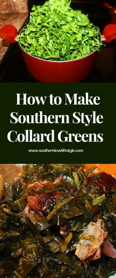 How to Cook Collard Greens the Southern Way- How to cook collard greens is a very serious topic in the South, it has to be done correctly. Best Collard Greens Recipe, Cooking Collard Greens, Southern Style Collard Greens, Carolina Kitchen Collard Greens Recipe, How To Cook Collards, How To Cook Greens, Vegetarian Cooking, Southern Style, Kale