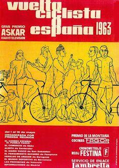 Cartel de Vuelta Ciclista a España 1963
