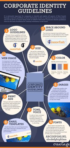 Need some tips for creating a memorable corporate identity? Check out these useful guidelines. #Infographic #branding