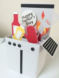 Father's Day Grilling Barbeque Card in a box by MessagesAndMemories on Etsy