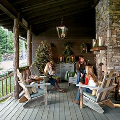 High Country Holiday Home | Back Porch Christmas | SouthernLiving.com