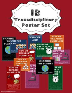 This colorful poster set is for use in your IB classroom to help communicate the Transdisciplinary themes to your students.  #PYP  #IB
